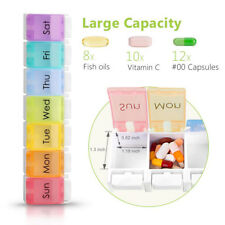 7 Day Pill Box Organizer Daily Weekly Tablet Reminder Travel Medicine Storage
