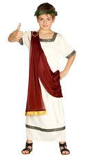 Kids Roman Costume Boys Julius Caesar Fancy Dress Outfit Bookweek Age 4-12 NEW