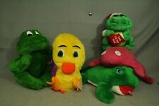 lot plush toys rare Russ Berrie Quackers Chick Acme frog vintage Pink Christmas