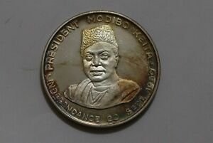 Mali 1960 Independence 10 Francs Silver TONED Proof B36 U39