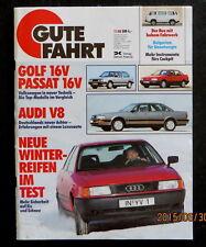 Gute Fahrt 11/88 Test Audi V8,Vergl VW Golf GTI 16V/VW Passat GT 16V,Werner-Fans