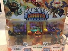 Target Exclusive Skylanders Giant LightCore 3-Pack, Prism Break, Eruptor, Drobot