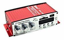 AMPLIFICATORE AUDIO RADIO MP3 12V CASA AUTO MOTO  2 CANALI STEREO RCA USB SD