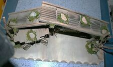 Krippe Weihnachten Holz Krippenstall 60 x 20 x 28 cm Weihnachtskrippe Stall
