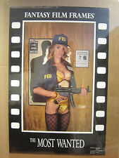 "vintage "" The Most wanted"" Poster fantasy film frames 1990 4909"
