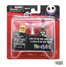 Nightmare Before Christmas Minimates Series 5 Glow-in-Dark Santa Jack & Mayor