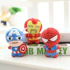 "6"" The Avengers Spider Iron Man Captain America Plush Stuffed Doll Toy Gift"