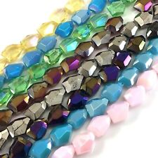 Large Crystal Faceted Nugget Beads 15