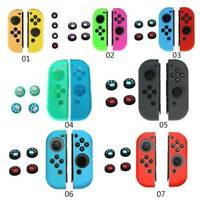 Silicone Cover for Nintendo Switch Joy-Con Handle Cover+Rocker Cap+4 Grips Caps#