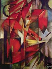 Foxes by Franz Marc Giclee Fine Art Print Reproduction on Canvas