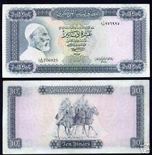 Libye LIBYA Billet 10 Dinars ND P37b CHEVAL QUASI NEUF // AU