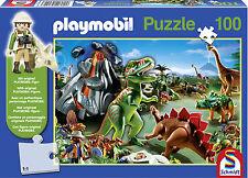 PLAYMOBIL nel paese DINO Puzzle con Playmobil figura (100 pezzi) - NUOVO