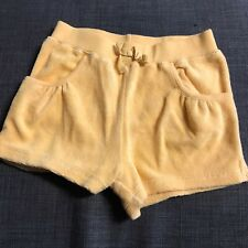 Janie And Jack Yellow Terrycloth Cotton Pull On Shorts Size 6