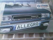Austin Allegro Brochure 1978 Publication 3269/A