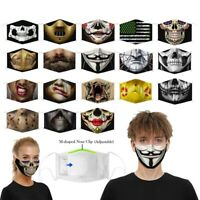 Washable Funny Mask Facemask Half Face Mouth Mark HipHop One Size Cospaly Party