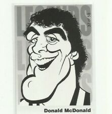 2010 AFL KANGAROOS NORTH MELBOURNE DONALD McDONALD WEG ART LEGENDS CARD # 37