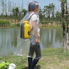 Men Women Hooded Transparent Raincoat PVC Waterproof Poncho Long Sleeve Coat