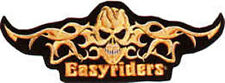 Iron On/ Sew On Embroidered Patch Badge Easy Rider Riders Flames Burn Large