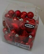 IKEA Kallt Red Baubles - Mixed Shapes