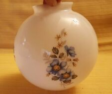 """Hand Painted flowers Ceiling Globe Milk Glass Lamp Shade 3 1/4"""" fitter shade"""