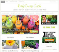 * BODY DETOX * turnkey website business for sale with AUTO UPDATING CONTENT