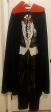 Mens Vampire Union Suit Pajamas One Piece Costume W/ Cape Large Cosplay NEW