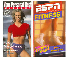 Your Personal Best Workout & ESPN Fitness Pros Step Aerobics Lot of 2 SEALED VHS