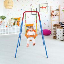 Babyschaukel Schaukelsitz mit Schaukelgerüst & Rückenlehne & Sicherheitsgurt