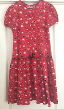 Hartstrings Navy Blue Red and White Heart Theme Dress Sz 16 Valentines Day EUC!