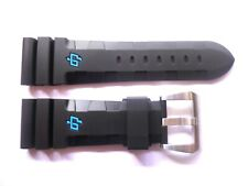 Rubber strap band 26mm for Panerai -- Accordion All Black Cinturino 26 mm buckle