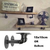 2Pcs Industrial Pipe Shelf Bracket Wall Mounted Floating Shelves Brackets Holder