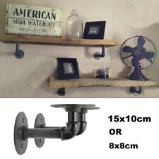 2Pcs Industrial Pipe Shelf Bracket Wall Mounted Floating Shelves Brackets Holder