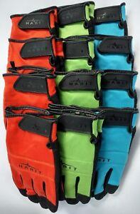 12 Pack Habit Multi-color Polyester/Spandex Work Gloves by Plainsman MEDIUM NEW
