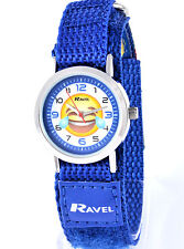 Ravel Childrens Watches Emoticon Emoji Blue Kids Watch Fast Fit Adjustable Strap