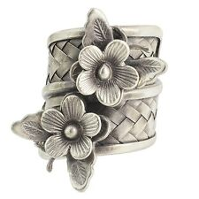Jewels Of Jaipur Tribal Silver New Fashion Butterfly Floral Band Ring Jewelry