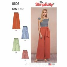 Simplicity Sewing Pattern 8605 Misses 6-24 Pull on Pants Skirt Paper Bag Waist