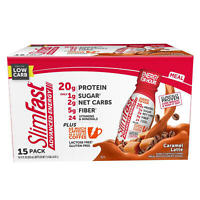 SlimFast Advanced Energy Caramel Latte High Protein Ready to Drink Meal