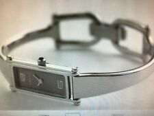 *GUCCI* 1500-L 'GRAY' DIAL STAINLESS-STEEL BANGLE LDS SWISS WATCH *EXCELLENT*!!