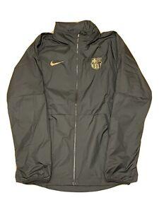 Nike Men's FC Barcelona Windbreaker Soccer Jacket Black CI9188-010 Size Medium
