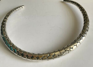 Modernist Sterling Silver Torque Collar Necklace Mexico? Taxco?