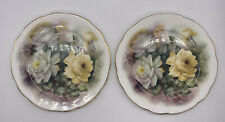 Royale Garden Rose Blossom Salad Plates Made In England