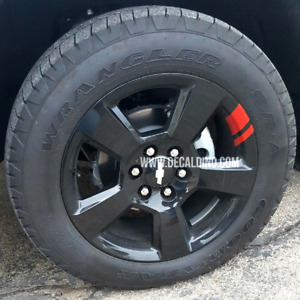 Wheel Stripes Hash Marks V2 - Thin Fits Chevy Truck Redline Rim Stickers Decal