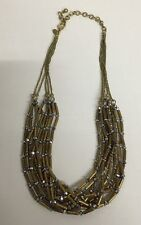 """Fashion Jewelry Name Brand gold tone 10 strand Necklace 20"""" NEW"""