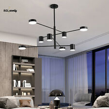 New Listing8-Lights 360° Rotate Led Ceiling Suspended Chandelier Pendant Light Fixtures Us