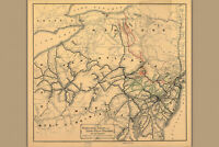 Reading Railroad; Antique Map, 1884