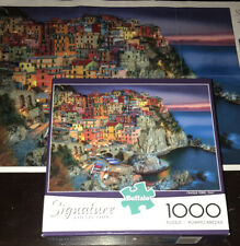Buffalo Signature Collection Cinque Terre Italy 1000 Piece Jigsaw Puzzle FREE SH