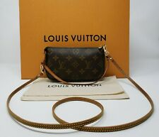 Authentic Louis Vuitton MONOGRAM Bucket Accessoires Pochette w/ Crossbody Strap