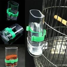 Pet Bird Cage Water Bottle Parrot Cockatiel Food Hanging Dispenser Feeder Easy ~