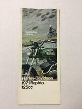 1971 Harley-Davidson Rapido 125cc Model, Sales Brochure