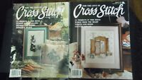 ⭐ LOT OF 2 FOR THE LOVE OF CROSS STITCH Magazines 1990/91 ~~ 46 PROJECTS!! ⭐